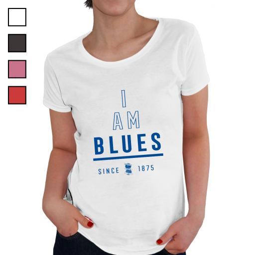 Personalised Birmingham City I Am Ladies T-Shirt.