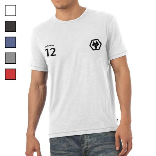 Personalised Wolves Mens Sports T-Shirt.