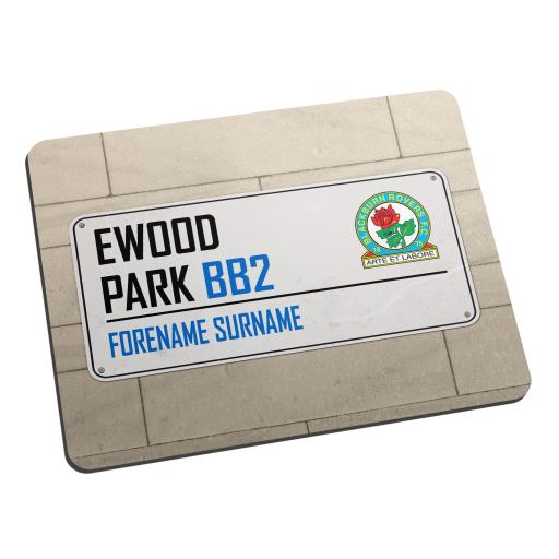 Blackburn Rovers FC Street Sign Mouse Mat