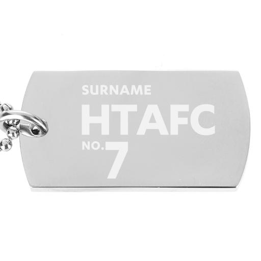 Huddersfield Town Number Dog Tag Pendant