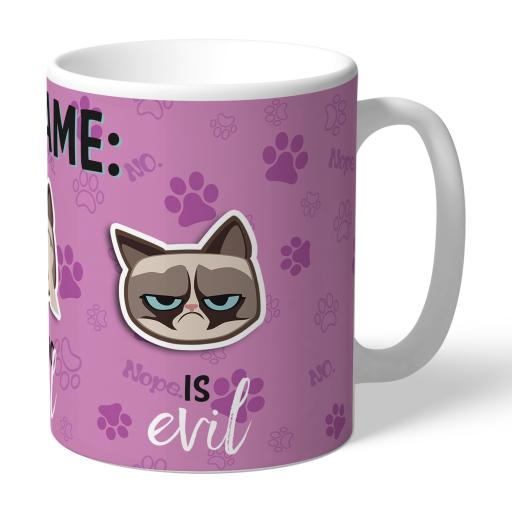 Grumpy Cat Emoji - Three Wise Cats Mug Pink