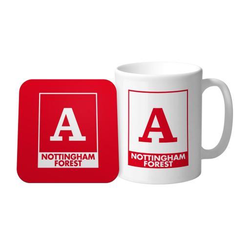 Nottingham Forest FC Monogram Mug & Coaster Set