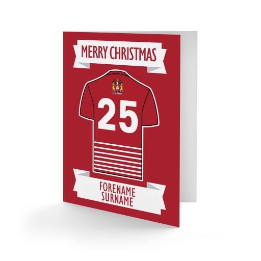 Wigan Warriors Shirt Christmas Card