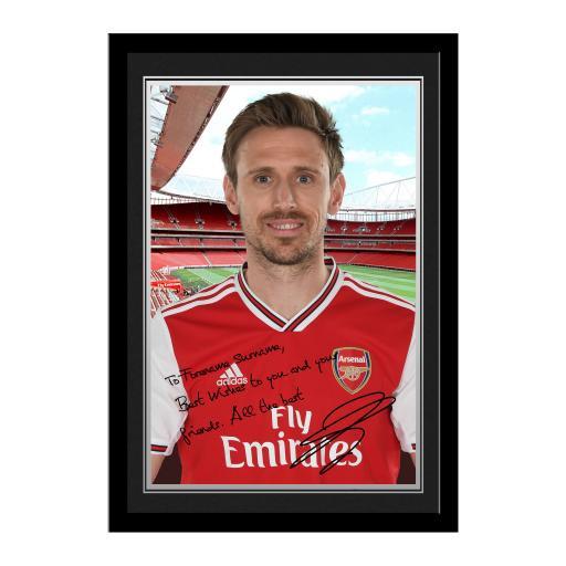 Arsenal FC Monreal Autograph Photo Framed