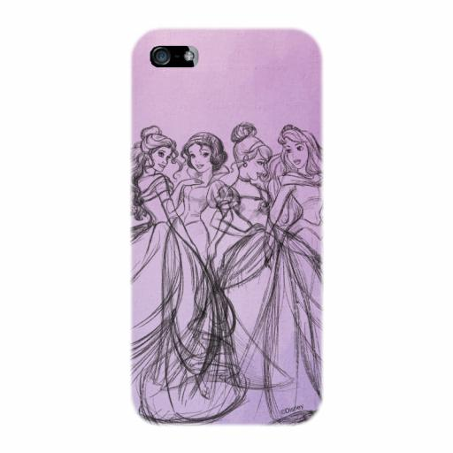 Disney Princess Group Watercolour iPhone 5 /5S / 5SE Clip Case