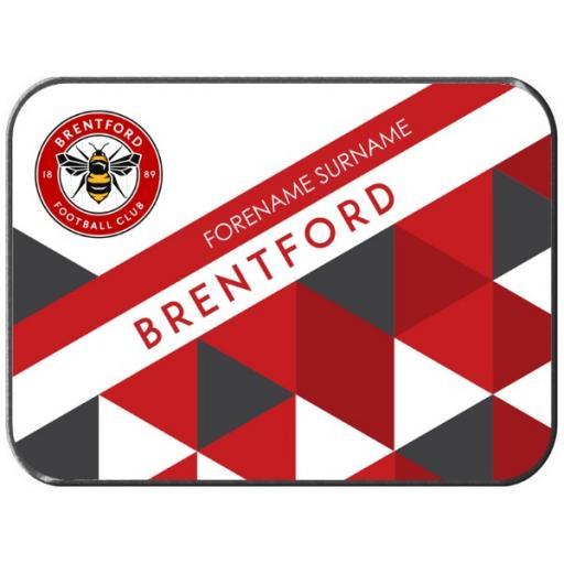 Personalised Brentford FC Patterned Rear Car Mat.
