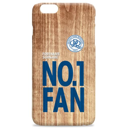 Personalised Queens Park Rangers FC No 1 Fan Hard Back Phone Case.