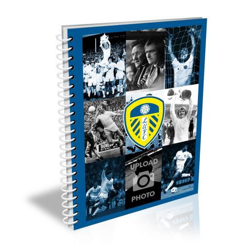 Personalised Leeds United FC Legends Photo A5 Plain Notepad.