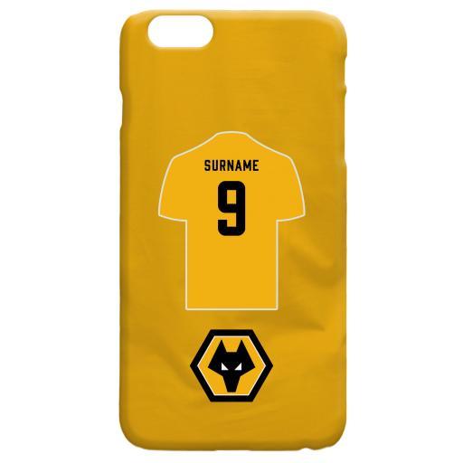 Personalised Wolves Shirt Hard Back Phone Case.