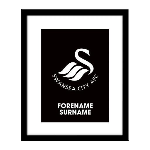 Swansea City AFC Bold Crest Print