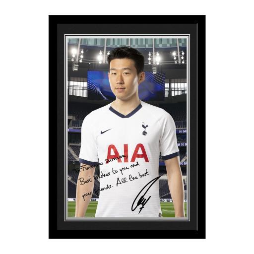 Tottenham Hotspur Son Autograph Photo Framed