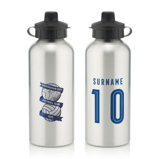Personalised Birmingham City Retro Shirt Water Bottle.