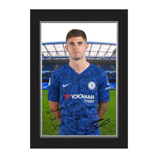 Chelsea FC Pulisic Autograph Photo Folder