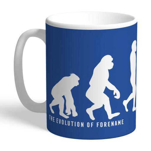 Personalised Leicester City FC Evolution Mug.