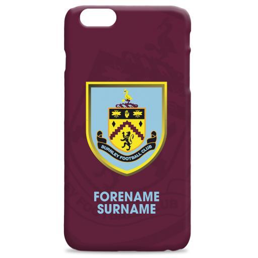 Burnley FC Bold Crest Hard Back Phone Case