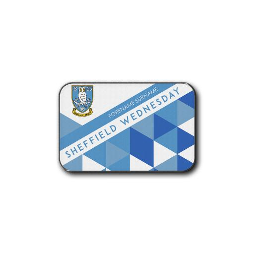 Personalised Sheffield Wednesday FC Patterned Rear Car Mat.