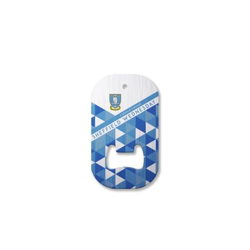 Personalised Sheffield Wednesday FC Patterned Compact Bottle Opener.