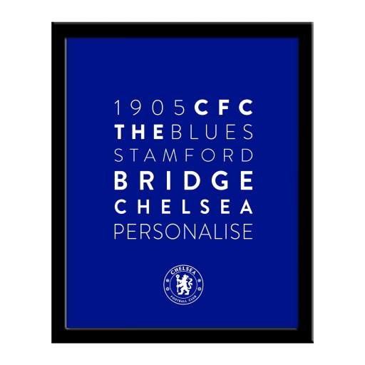 Chelsea FC Word Collage Framed Print