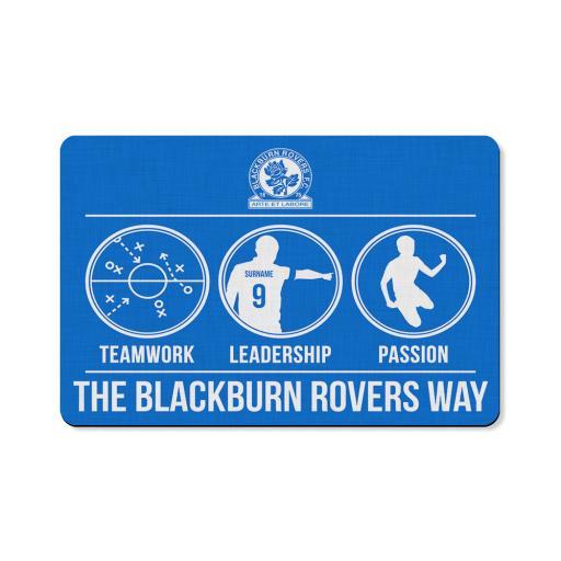 Personalised Blackburn Rovers FC Way Floor Mat.