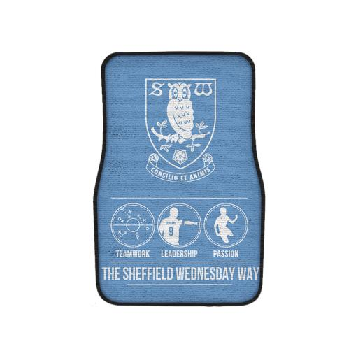 Personalised Sheffield Wednesday FC Way Front Car Mat.