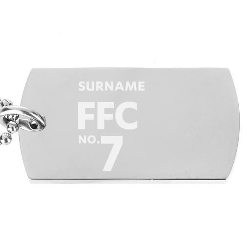 Fulham FC Number Dog Tag Pendant