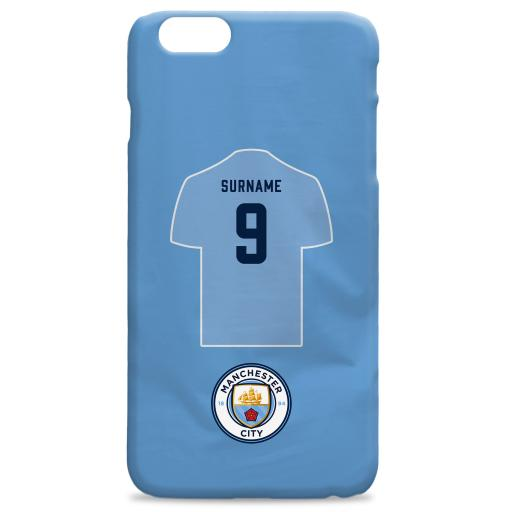 Manchester City FC Shirt Hard Back Phone Case