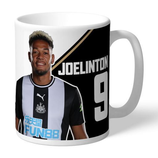 Personalised Newcastle United FC Joelinton Autograph Mug.
