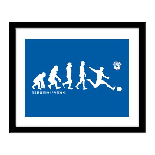 Cardiff City Evolution Print