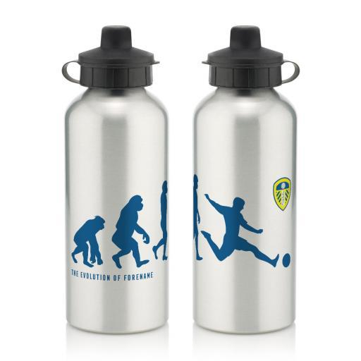 Personalised Leeds United FC Evolution Water Bottle.