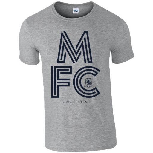 Personalised Middlesbrough FC Stripe T-Shirt.