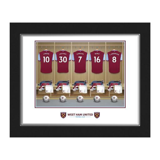 Personalised West Ham United FC Dressing Room Photo Folder.