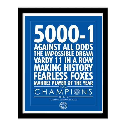 Leicester City FC Believe Print