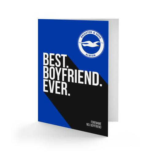 Brighton & Hove Albion FC Best Boyfriend Ever Card