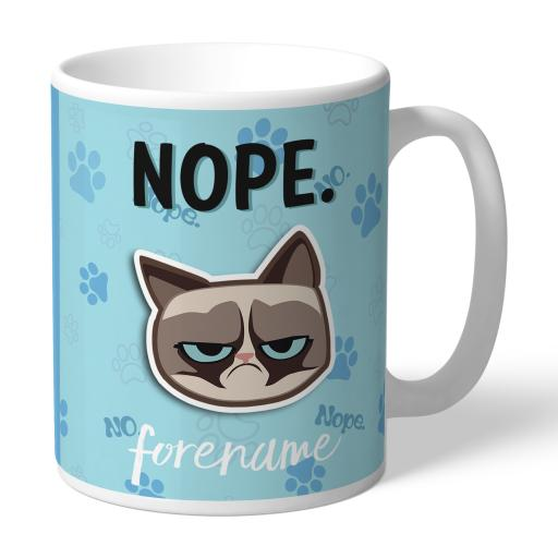 Grumpy Cat Emoji - Nope Mug Blue