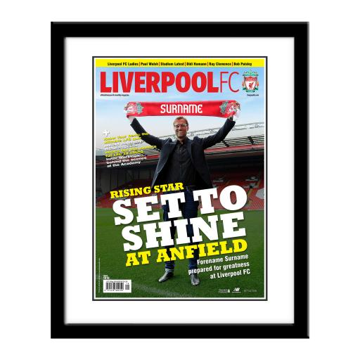 Liverpool FC Magazine Front Cover Framed Print