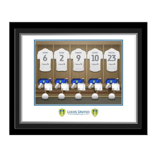 Leeds United FC Dressing Room Photo Framed