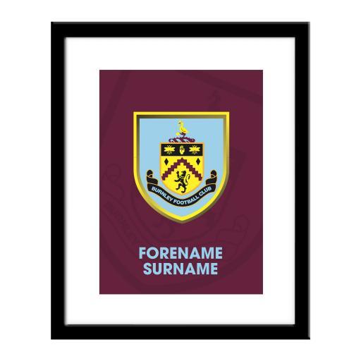 Burnley FC Bold Crest Print