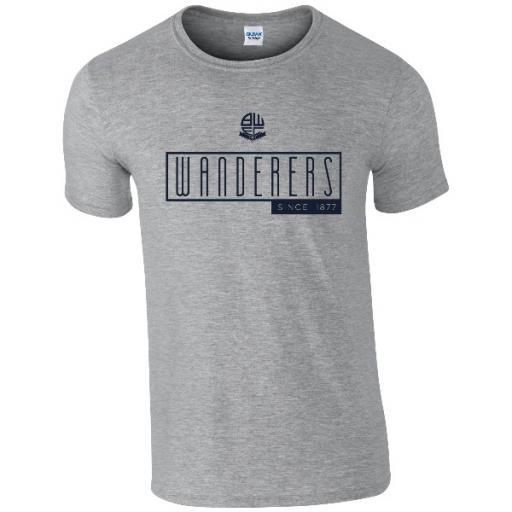 Personalised Bolton Wanderers FC Art Deco T-Shirt.