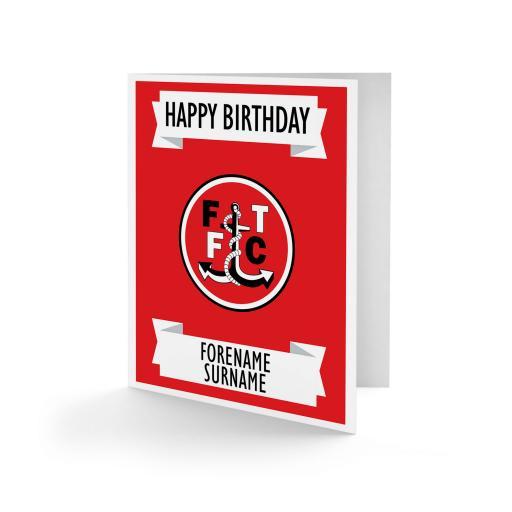 Fleetwood Town FC Crest Birthday Card