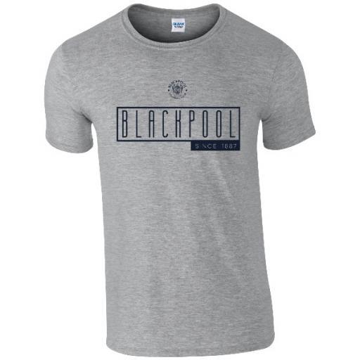 Personalised Blackpool FC Art Deco T-Shirt.