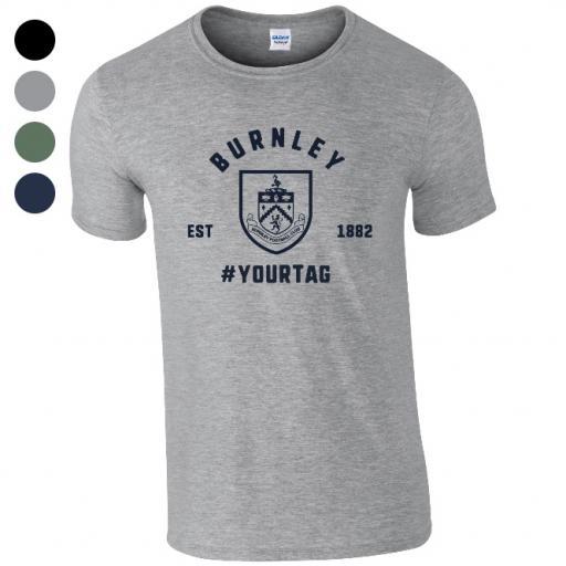 Burnley FC Vintage Hashtag T-Shirt