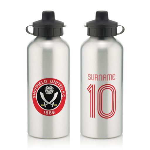Sheffield United FC Retro Shirt Water Bottle