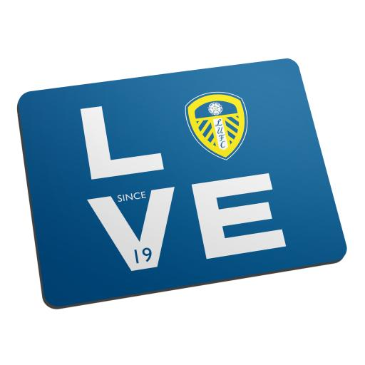 Personalised Leeds United Love Mouse Mat.