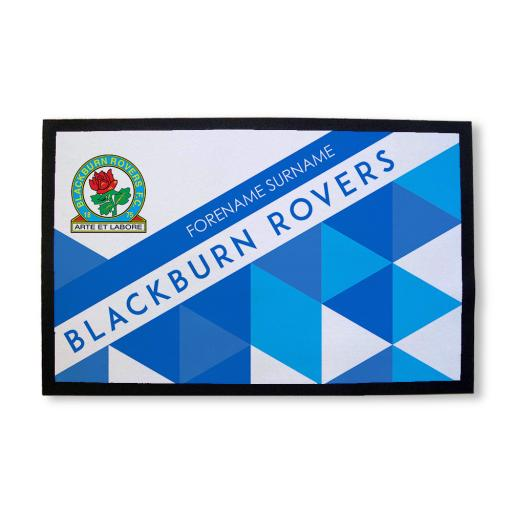 Personalised Blackburn Rovers FC Patterned Door Mat.