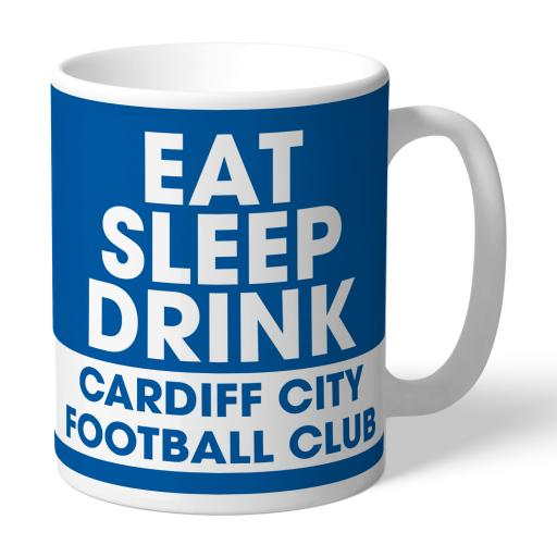 Cardiff City FC Eat Sleep Drink Mug