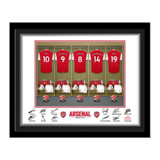 Arsenal FC Dressing Room Photo Framed