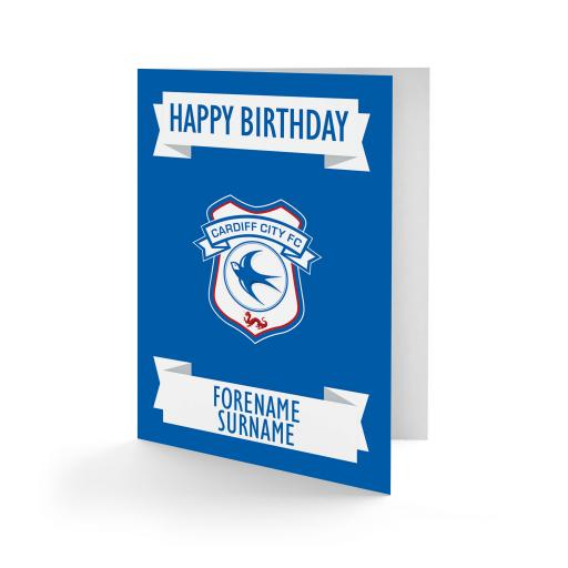 Cardiff City FC Crest Birthday Card