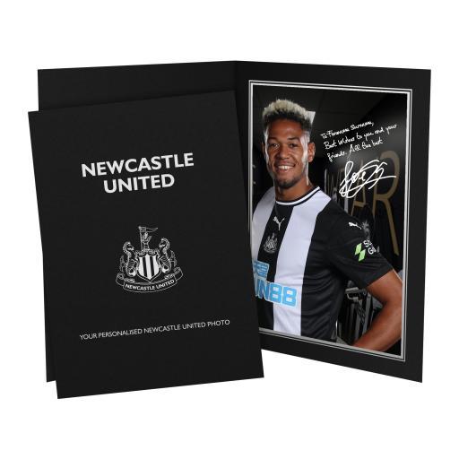 Personalised Newcastle United FC Joelinton Autograph Photo Folder.