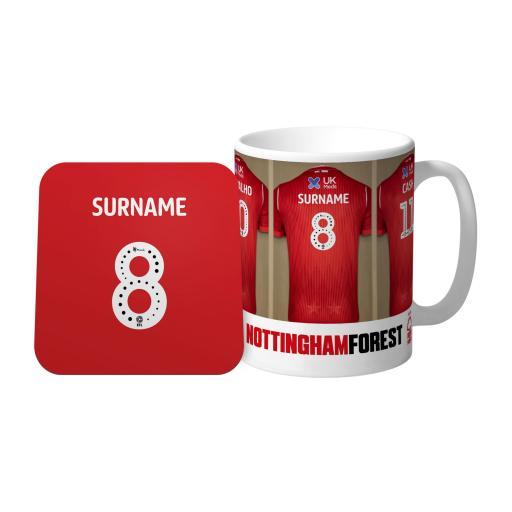 Nottingham Forest FC Dressing Room Mug & Coaster Set