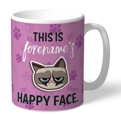 Grumpy Cat Emoji - Happy Face Mug Pink